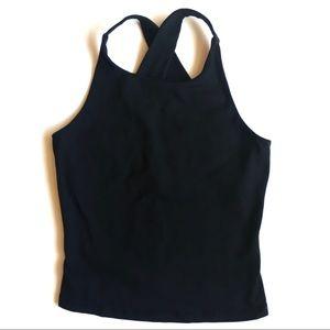 Garage black halter workout top in size medium